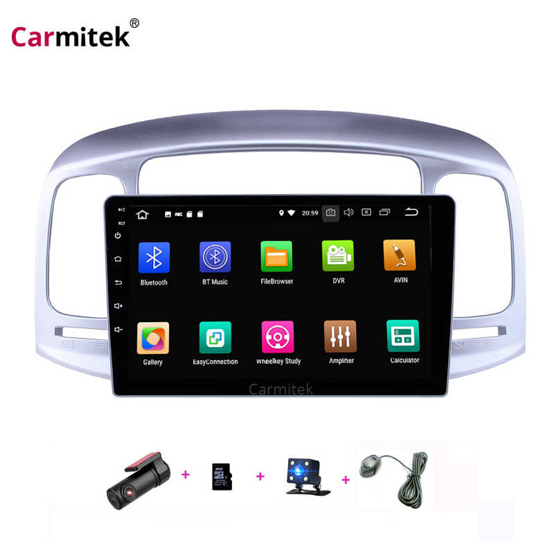 Carmitek 9 ''Android 9 Mobil Multimedia untuk Hyundai Accent 2006 2007 2008 2009 2010 2011 Touch screen Head Unit bluetooth Stereo