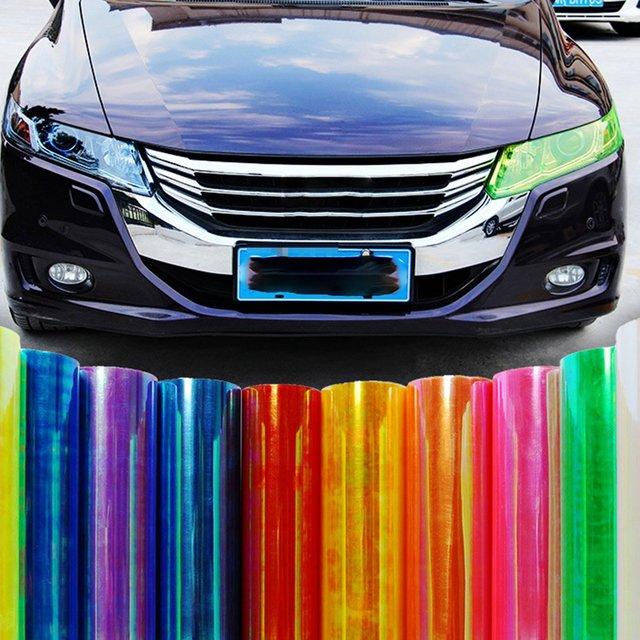 Car Light Film 30*120Cm Auto Film Sticker Decals Smoke Fog Light Sticker Cover Auto Styling Film Wrap