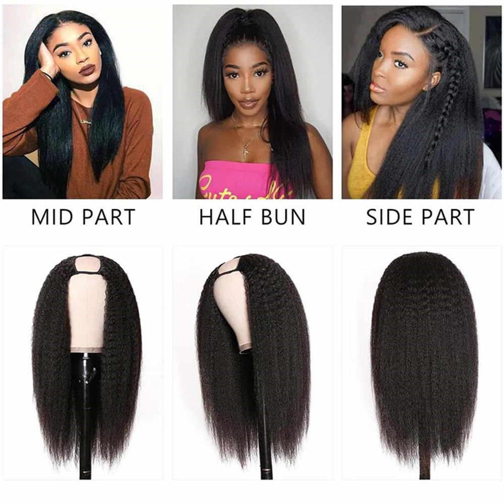 Malaio kinky reta peruca dianteira do laço 13x4/13x6 frente do laço peruca de cabelo humano para preto feminino glueless 360 peruca dianteira do laço remy