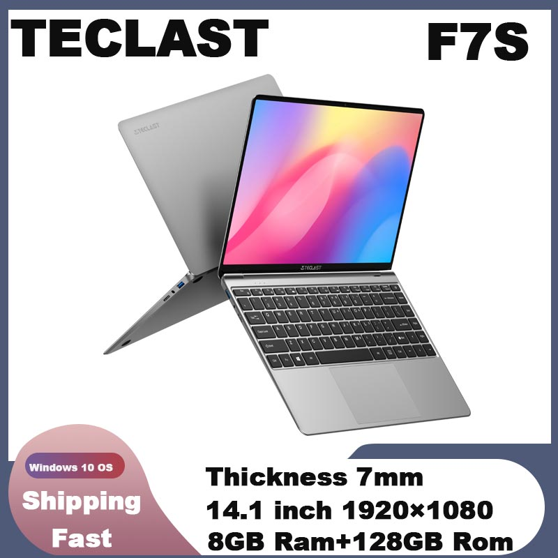 Teclast F7S Notebook 14 1   Windows 10 Intel N3350 Dual Core 2 4GHz 8 GB RAM 128 GB SSD 2 0MP front Camera 7 hour mix-use Laptop