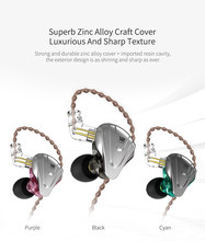 KZ ZSX Terminator 5BA+1DD 12 Unit Hybrid In-ear Earphones HIFI Sport Metal Headset For ZSN ZS10 PRO AS10 AS12 AS16 ZST C12(China)