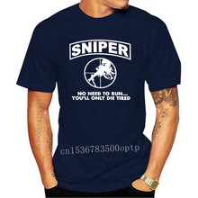 Men's Sniper No Need To Run Army Marine Corps Adult t shirt Designing cotton Euro Size S-3xl Pictures Anti-Wrinkle fashion shirt