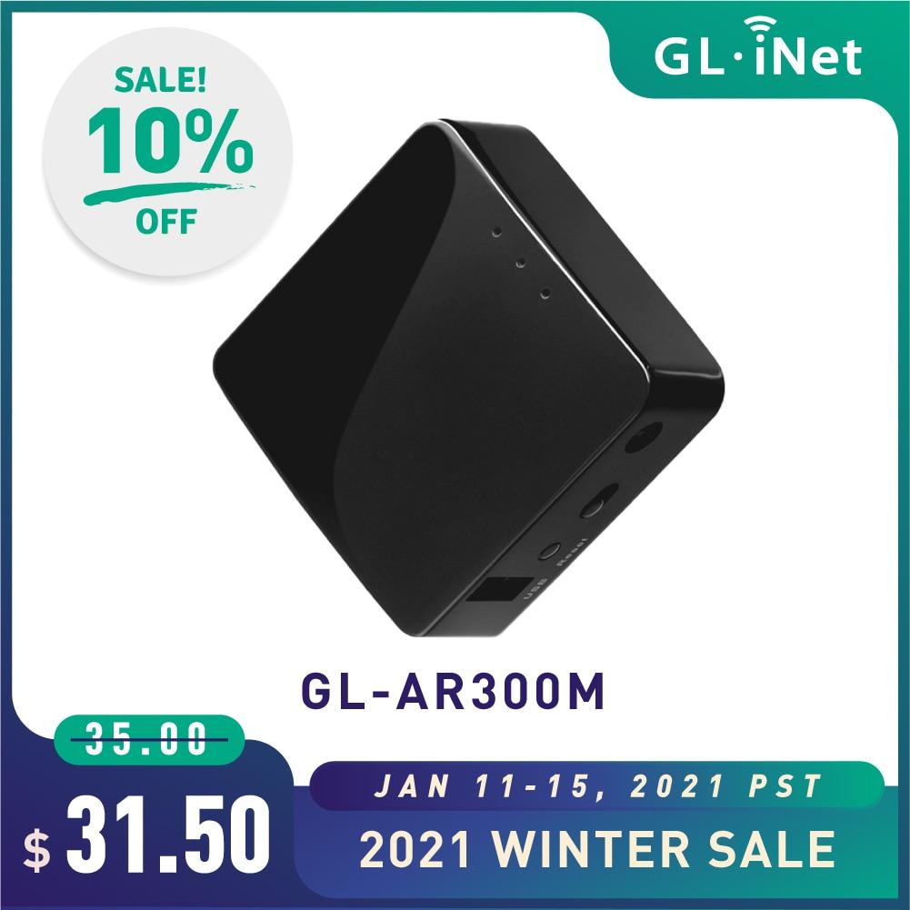 GL.iNet GL-AR300M Мини маршрутизатор Wi-Fi конвертер OpenWrt предустановленный ретранслятор мост 300 Мбит/с Высокая производительность 16 Мб Nor flash