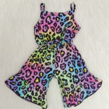 wholesale baby girls fashionable summer clothes leopard jump