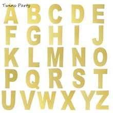 Twins Party Gold Glitter DIY Letter Banner Custom Kit Customizable Letters Make Your Own For Birthday
