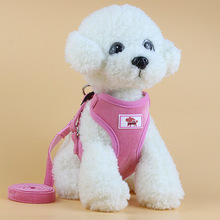 Dog mesh dog harness with leash for small and medium dogs nylon  puppy cats Nice