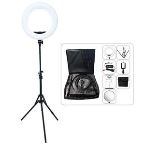 Image 5 - Gậy Chụp Hình Selfie Vòng 18 Inch 48W Yidoblo AX 480D 9900K Vòng Đèn Chân Máy Trong Chụp Ảnh Chiếu Sáng Trang Điểm đèn Led Vòng