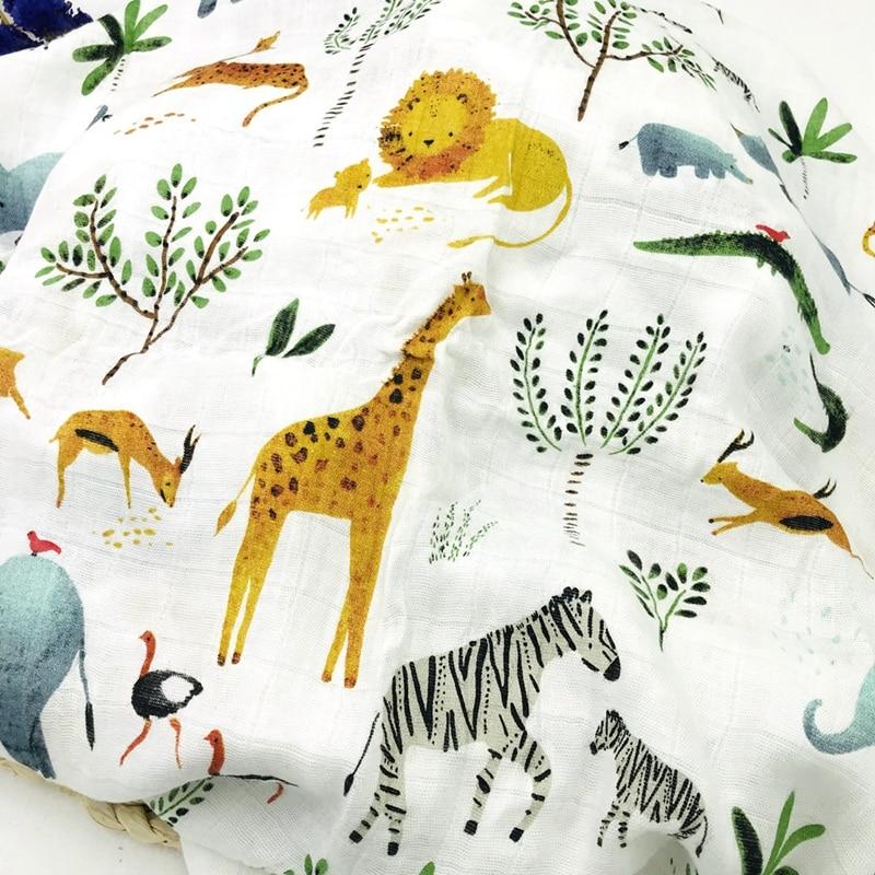 N Lion Newborn Muslin 100% Bamboo Fiber Baby Blanket Swaddles Blankets Bath Gauze Infant Wrap Sleepsack Stroller Cover Play Mat