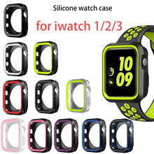 screen protector case for apple watch 5 case with glass cover for apple watch series 5 4 44mm 42mm iwatch 3 2 1 42mm protector Cover Case For Apple Watch band 44mm/40mm 42mm/38mm iwatch screen protector protective bumper apple watch series 5 4 3 2 1 case