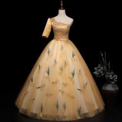 Vestidos de 15 2020 nova foto real festa baile de formatura vestido de um ombro vintage quinceanera vestidos mais tamanho
