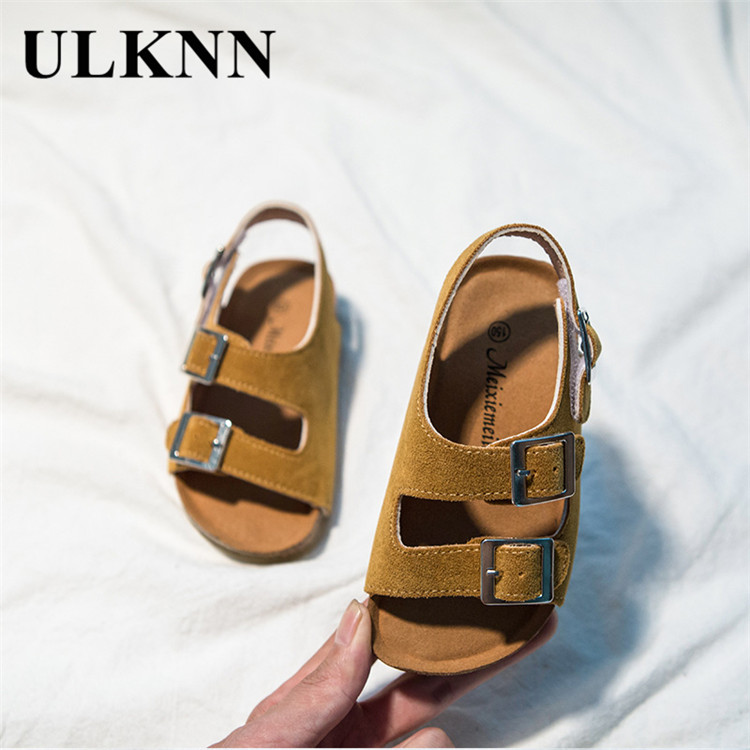 ULKNN 2020 Summer New Style Cork Sole Anti-slip Casual  Kid's Shoes Size CHILDREN'S Slippers Baby Sandals