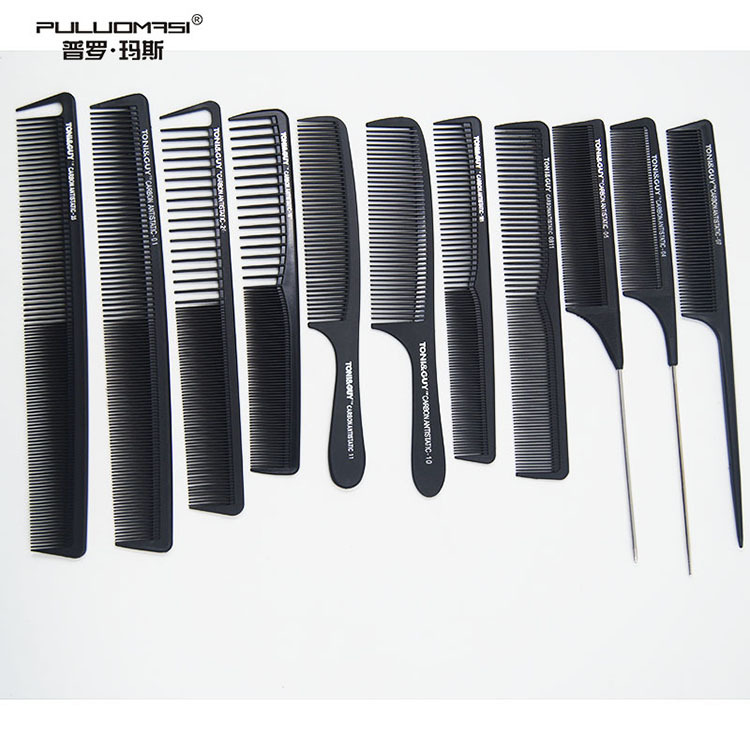 Hairdressing Comb Anti-static Hairdressing Wooden Heat-Resistant Carbon Fiber Profession Haircut Hairdressing Comb