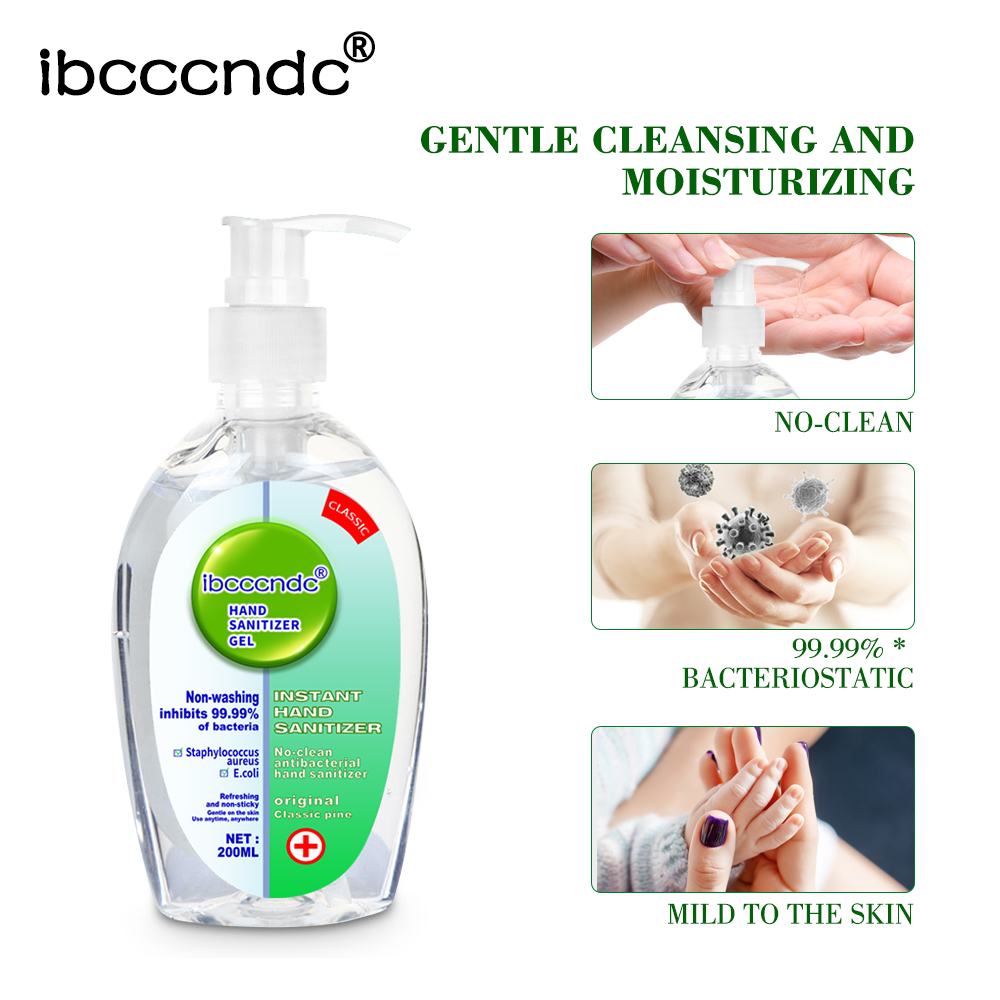 99.99% Antibacterial Disposable Hand Sanitizer Acohol Disinfection Gel 200 Ml Disposable Quick-Dry Wipe Out Bacteria Hand Gel
