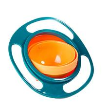 Baby Children Tableware Non Spill Bowl Toy Dishes Universal 360 Rotate Avoid Food Spilling Food Snacks Shower Practical(China)