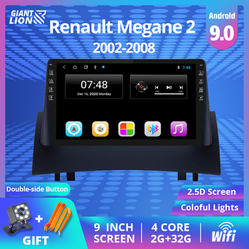 2DIN Android 9.0 Car Radio For Renault Megane 2 2004-2008 Car Multimedia Video Player Navigation GPS No 2din 2 Din Dvd Player image