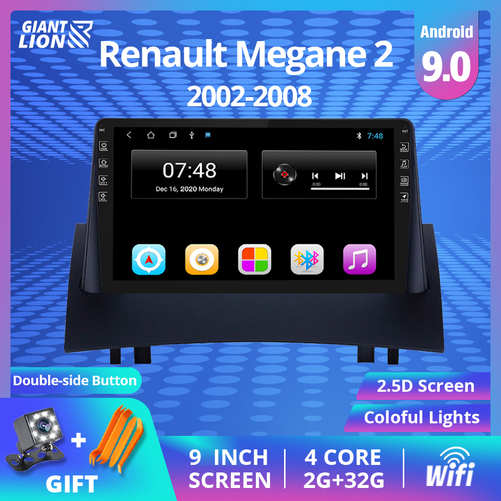2DIN <font><b>Android</b></font> 9.0 Car <font><b>Radio</b></font> For Renault Megane <font><b>2</b></font> 2004-2008 Car Multimedia Video Player Navigation <font><b>GPS</b></font> No 2din <font><b>2</b></font> <font><b>Din</b></font> Dvd Player image