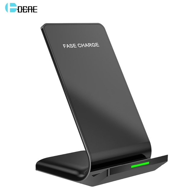 DCAE 10W Qi Wireless Charger For iPhone X XS 11 XR 8 Plus Quick Charge 3.0 Fast Charging Stand For Samsung S8 S9 S10 Note 10 9 8