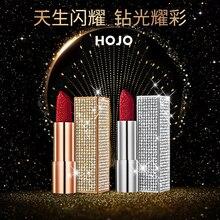HOJO Diamond Starry Sky Shinny Lipstick 6 Colors Long-lasting moisture Waterproof Sexy Red Velvet Matte Lipstick