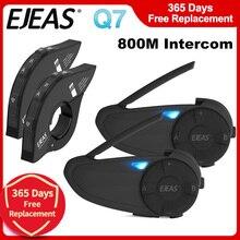 2 stücke EJEAS Q7 Quick7 Remote Bluetooth 5,0 Wasserdichte Motorrad Helm Intercom Headset Bis zu 7 Fahrer Drahtlose Sprech