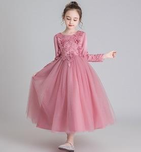 Image 5 - GirlsCampus 졸업 댄스 파티 롱 드레스 플라워 걸스 웨딩 신부 들러리 유적 파티 길이 들러리 드레스