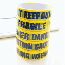 1/Roll DIY Sticker 24mm*25m Opp Yellow Warning Tapes Caution Barrier Safety Reminder For Home Store Warehouse Factory School