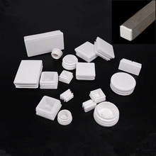 цена на Plastic Square table feet cap 30x30mm White Pipe Tubing Insert Plugs anti-slip Chair Furniture Leg Blanking End cover Home Decor
