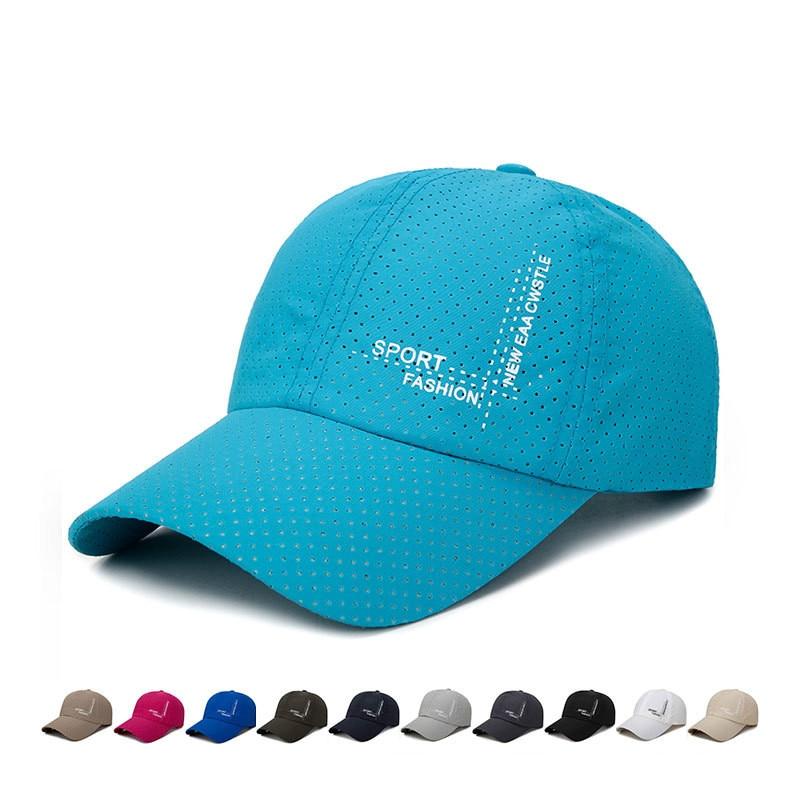 Summer Waterproof Quick Drying Sun Baseball Cap Fashion Outdoor Breathable Sunshade Adjustable Snapback Hat For Women Men Gorras