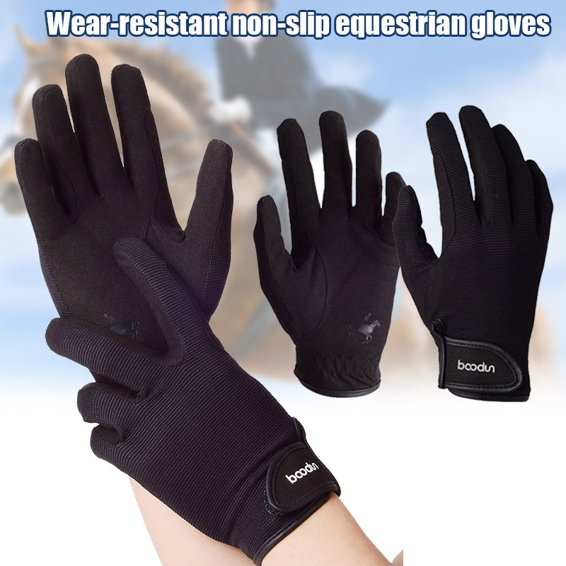 Professional Riding Gloves Equestrian Horse Riding Gloves For Men Women Lightweight Breathable  SMN88