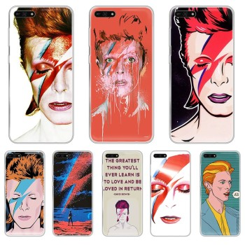 Art david bowie luxury prime waterproof Transparent Phone Case For HUAWEI honor mate 7A 8S 8X 9 9X 10 20 30 pro pro lite image