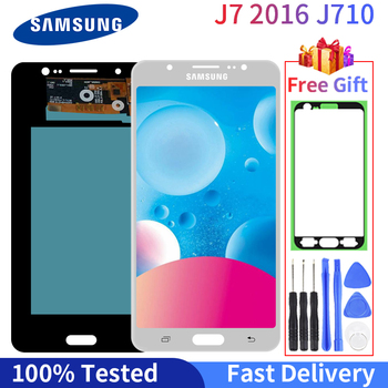 Super AMOLED LCD For Samsung Galaxy J7 2016 J710 Display SM J710F J710FN J710M J710H Touch Screen Digitizer Assembly