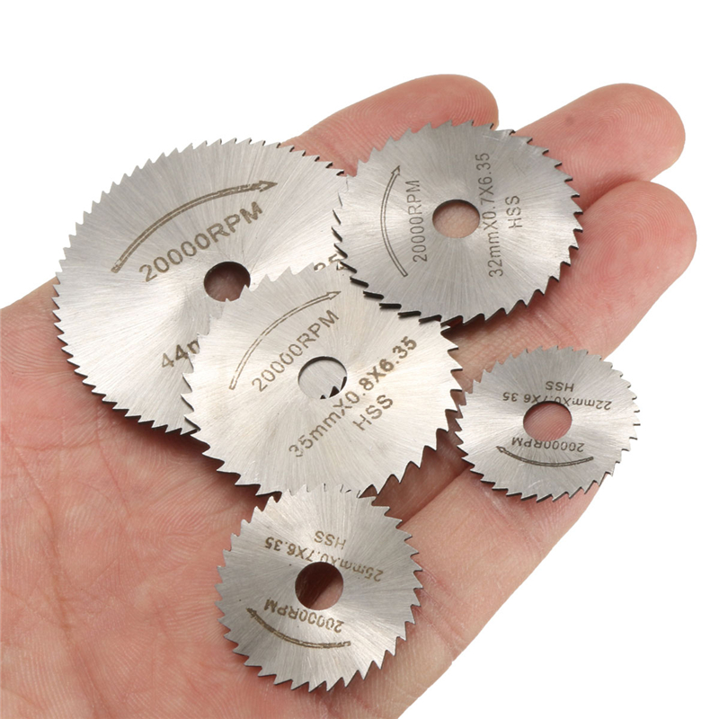 6pcs Mini Circular Saw Blade Set HSS Cutting Disc Rotary Tool Accessories For Dremel/ Mini Drill - Wood Plastic Aluminum