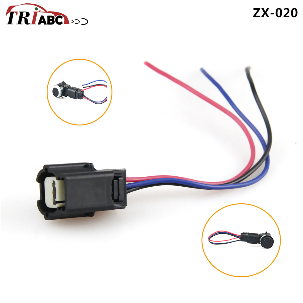 PDC Parking Sensor Connector For Chevrolet Cruze Aveo Orlando Opel Astra Dodge Saab GM Maserati Ghibli 3-Pin Parktronic 13394368