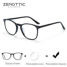 ZENOTTIC Acetat Rezept Progressive Brille Männer Optische Myopie Hyperopie Brillen Anti Blau Licht Photochrome Brillen