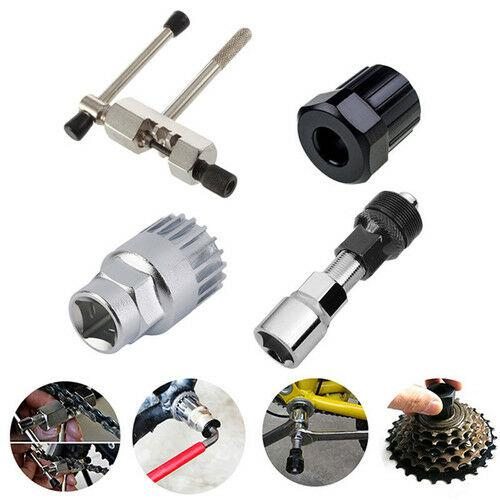 4Pcs//set Mountain Bike Bicycle Crank Chain Axis Extractor Removal Repair Tool