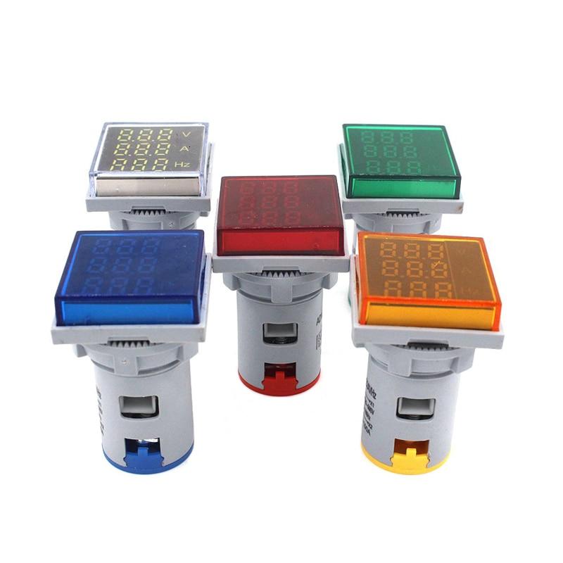 AC Digital LED Display Ampere Voltmeter Ammeter Hertz Voltage Current Frequency Meter Warning Indicator Signal Lights Tester