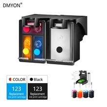 DMYON Refillable Ink Cartridge Replacement for HP 123 for Deskjet 1110 2130 2132 2133 2134 3630 3632 3637 3638 Printer