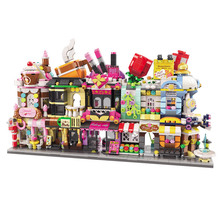 Enlighten Mini Street View Building Blocks Dessert Coffee Store Compatible Bricks Shop Toys Gifts For Children Boys Girl 280 pcs mini city street view building blocks coffee shop hamburger store city diy bricks toys for children christmas gifts