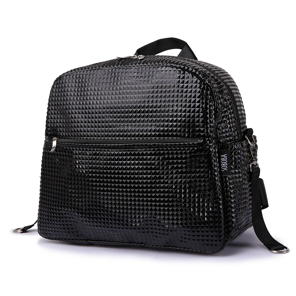 Stroller Bag For Baby Travel 18L Large Capacity Diamond Plaid Solid Waterproof Diaper Bag For Mother Maternity Bag With 2 Straps