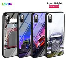 Black Cover Greatest Trucks for iPhone X XR XS Max for iPhone 8 7 6 6S Plus 5S 5 SE Super Bright Glossy Phone Case black cover japanese samurai for iphone x xr xs max for iphone 8 7 6 6s plus 5s 5 se super bright glossy phone case