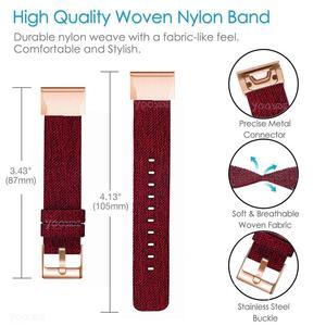 Image 3 - YOOSIDE for Fenix 6S Wristband 20mm Quick Fit Woven Nylon Canvas Watch Band Strap for Garmin Fenix 5S/5S Plus/Fenix 6S Pro
