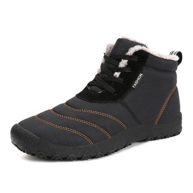 Рождественские супер теплые мужские зимние ботинки для мужчин; теплые плюшевые ботинки; новые мужские зимние ботинки; хлопковые ботиночки; ...