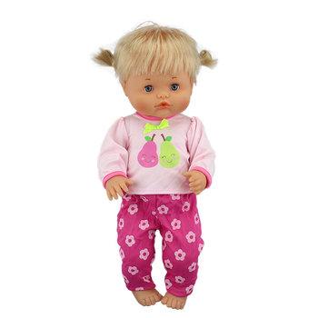 Nowe wiele stylów ubrania pasują 40cm 41cm lalka Nenuco Ropa y su Hermanita fioletowe długie rękawy T-shirt fioletowe kropki spodnie z kapeluszem tanie i dobre opinie Cloth Unisex Moda Akcesoria Suit Akcesoria dla lalek