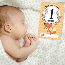 12 шт., наклейка на месяц для детской фотосъемки, памятная веха, ежемесячный памятный номер для новорожденных детей, памятная карта, реквизит для фотосессии, аксессуары
