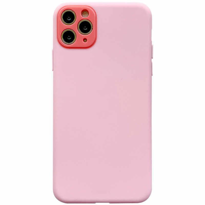 Proteção da câmera moskado silicone macio capa de telefone para o iphone 11 pro max x xr xs max 7 8 7 plus doces cor volta caso simples