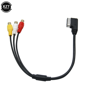 Кабель-адаптер для Audi AMI AUX MDI MMI A3 A4 A6 A7 A8 Q5 Q7 R8 AMI MMI RCA 3RCA DVD видео аудио вход провод автомобильный аксессуар