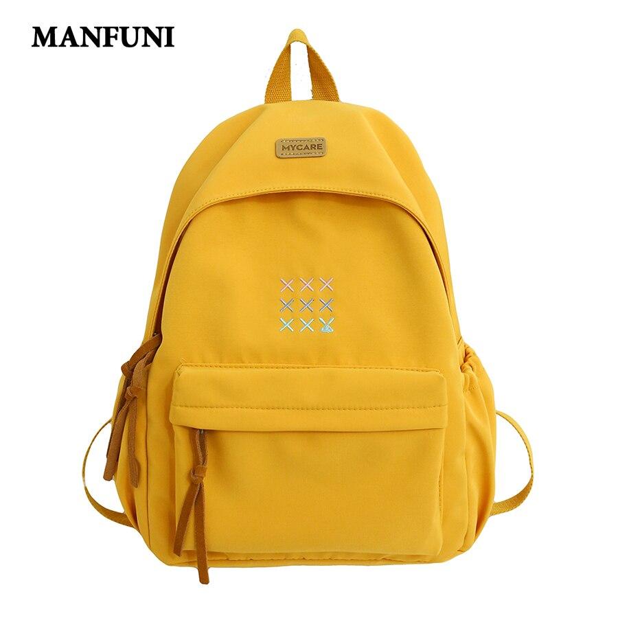 2020 Teenage Girl School Bag Fashion Korean Style Backpack Women Travel Backpacks BookBag Mochilas Female Large Capacity Backbag