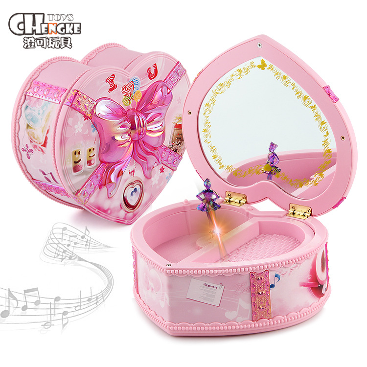 Dancing GIRL'S Music Box With Mirror Jewlery Box Music Box Birthday Gift Creative Desktop Decorations And Ornaments Gift