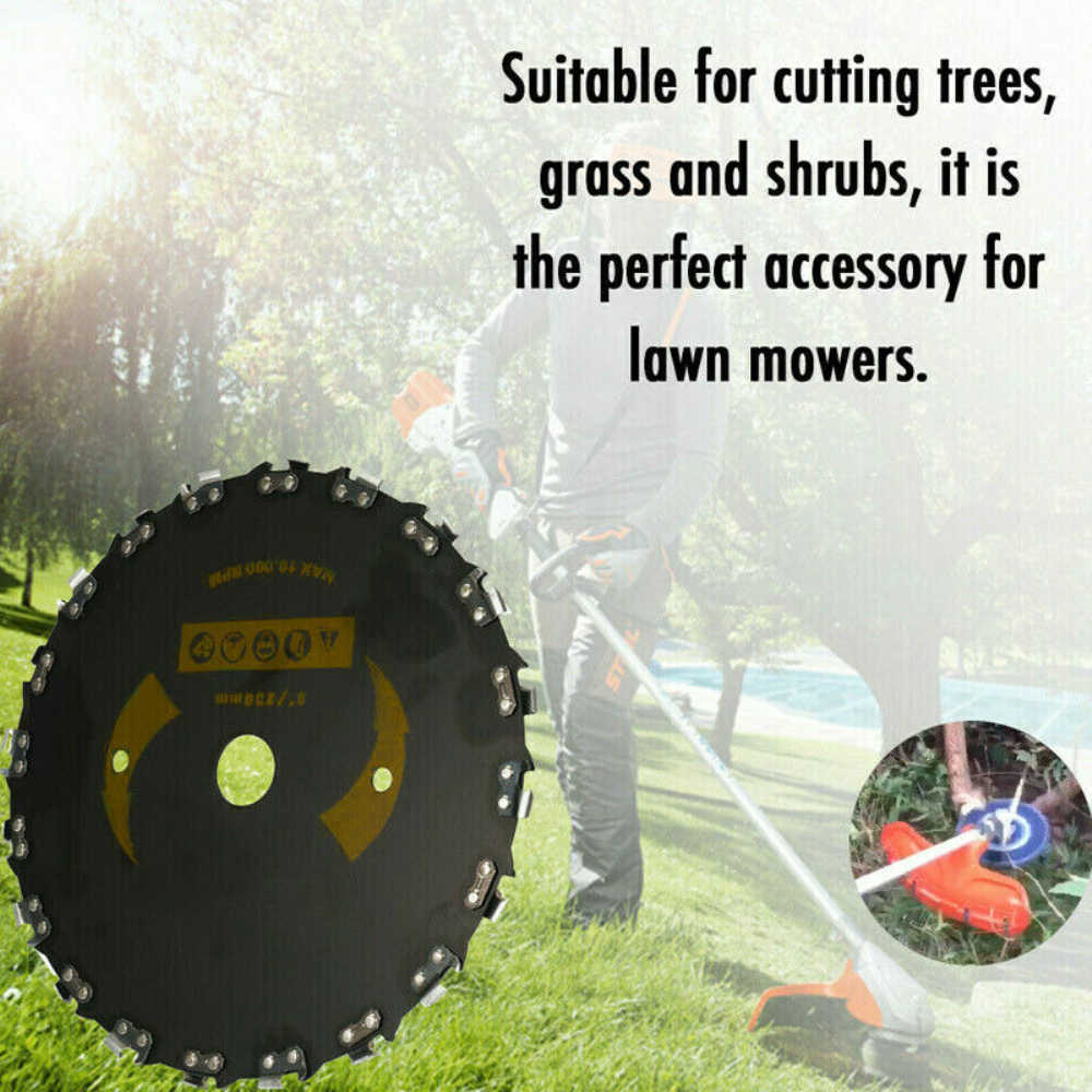 Grass Cutter Steel Chain Saw Tooth Grass Trimmer Blade Lawn Mower Trimmer Head A