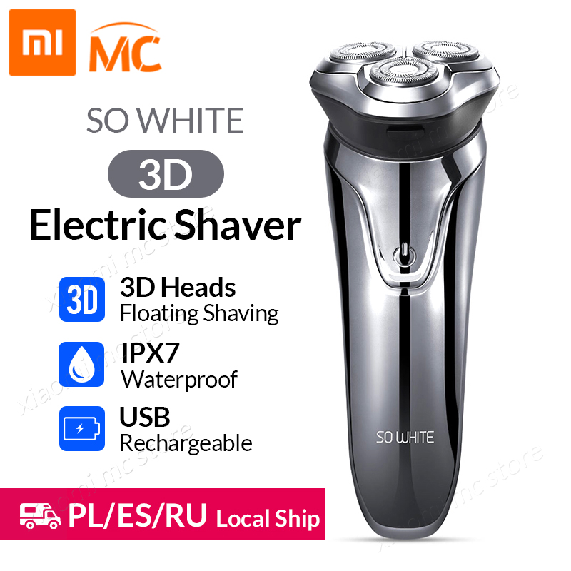 Xiaomi Soocas SO WHITE Electric Shaver Razor Men Washable USB Rechargeable Wireless 3D Smart Control Shaving Beard Machine Люмен