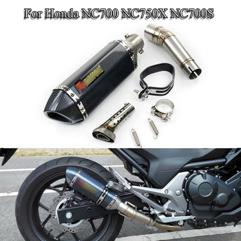 NC700 NC750X Motorcycle Exhausat system pipe Mid Connect Pipe Exhaust With 51mm Muffler DB Killer For Honda Scooter Until 2019 alconstar stainless steel motorcycle middle exhaust connect mid link pipe exhaust with db killer for bmw f650gs f700gs f800gs